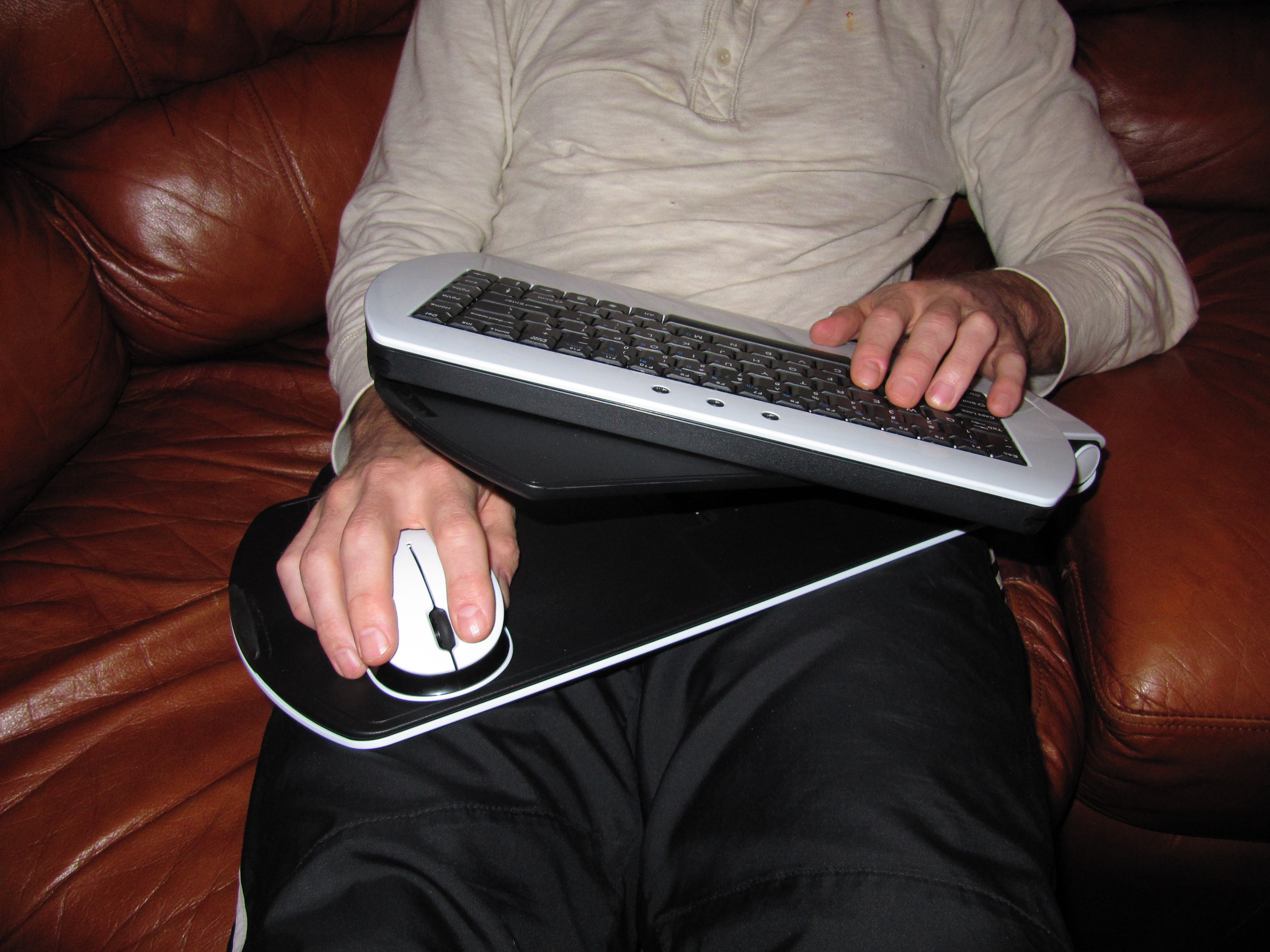 Couch gaming with the onlive microconsole the phantom lapboard